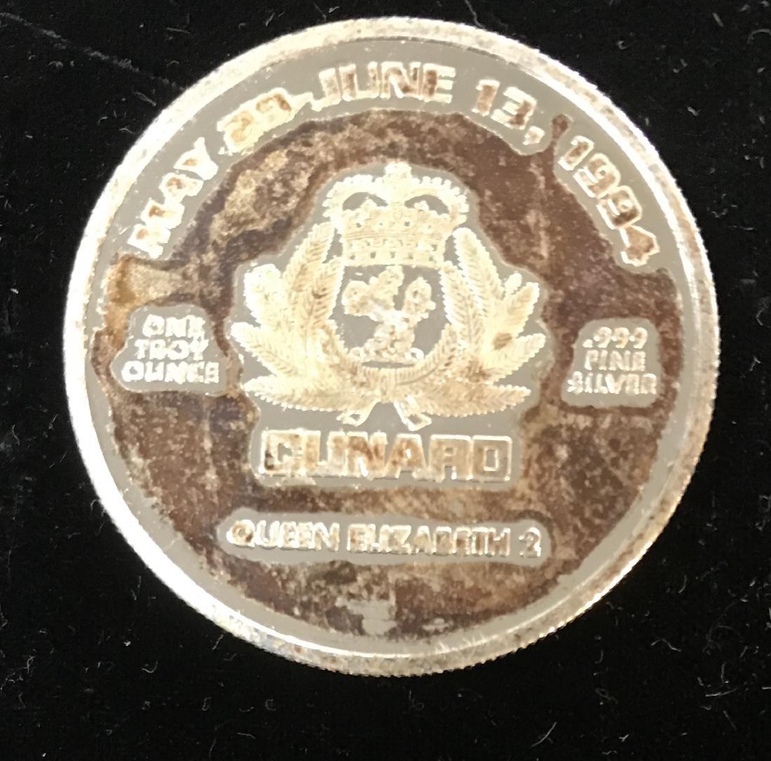 """""""D""""Day 50th Anniversary 1944 June 1994 1 tr oz .999 - 2"""