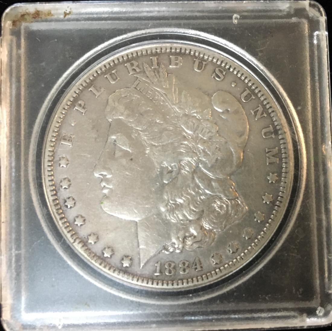 1884-P $1 Morgan Silver Dollar