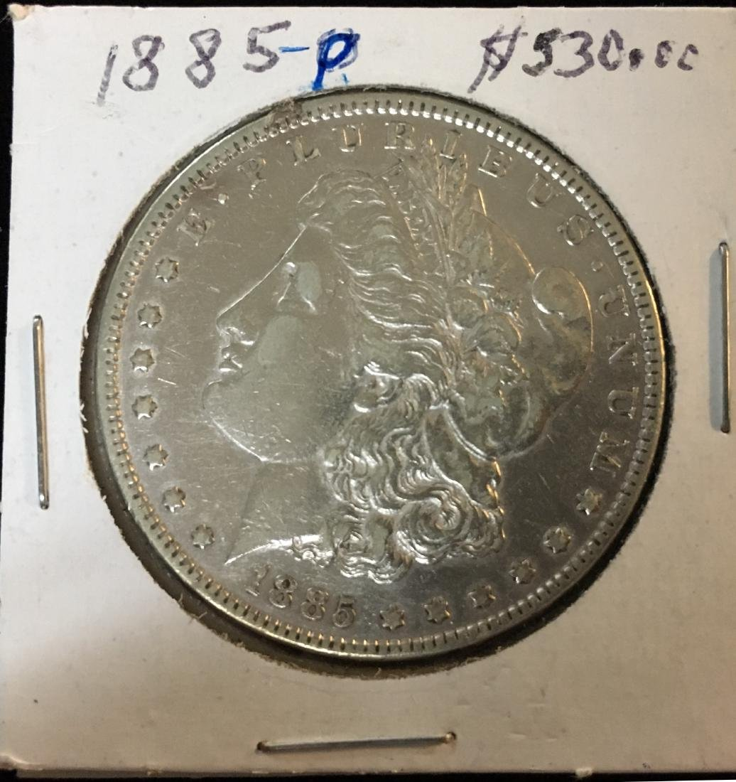 1885-P $1 Morgan Silver Dollar