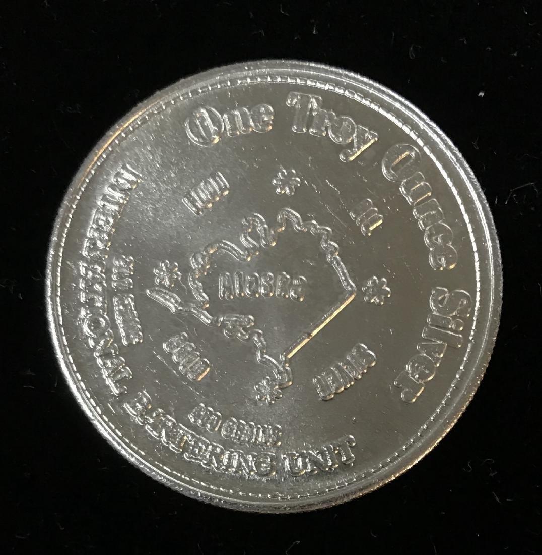 1974 Alaska Silver Coin 1 tr oz .999 Fine Silver 31.1 - 2
