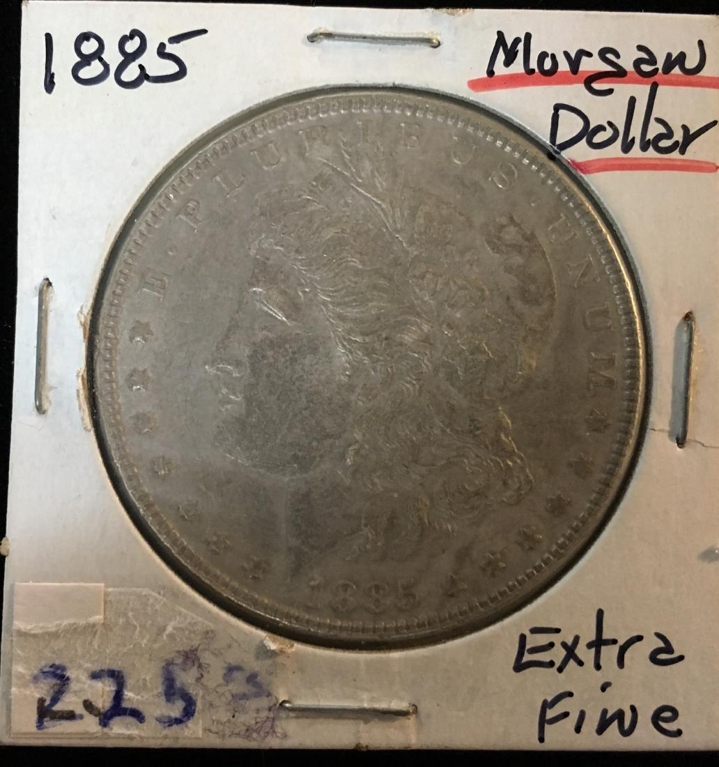 1885-P $1 Morgan Silver Dollar
