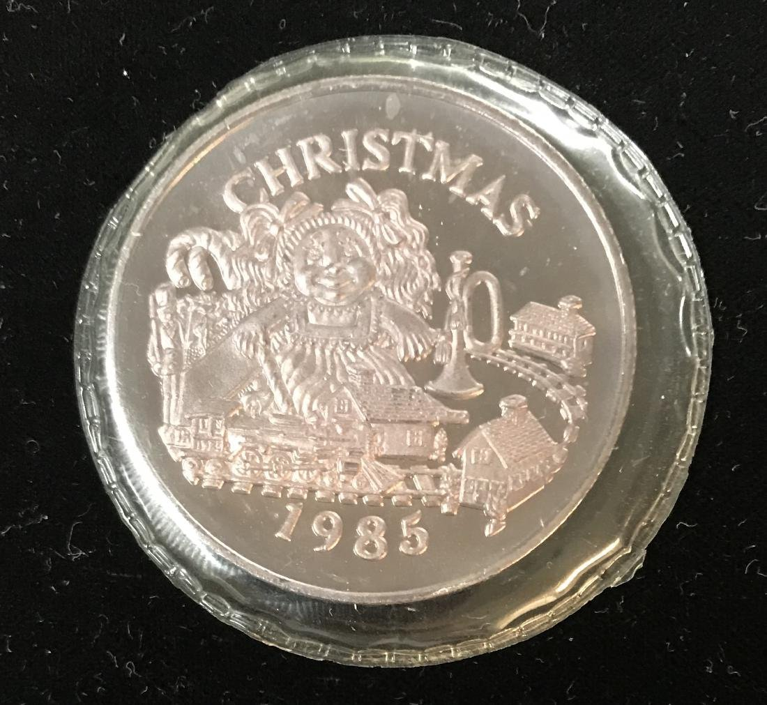 1985 Christmas Kids in Toyland Dahlonega Mint 1 tr oz