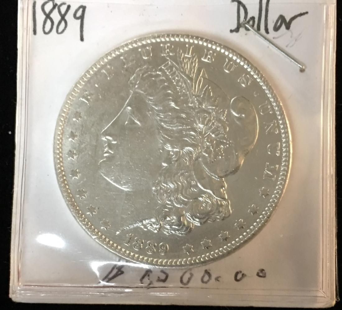 1889-P $1 Morgan Silver Dollar BU
