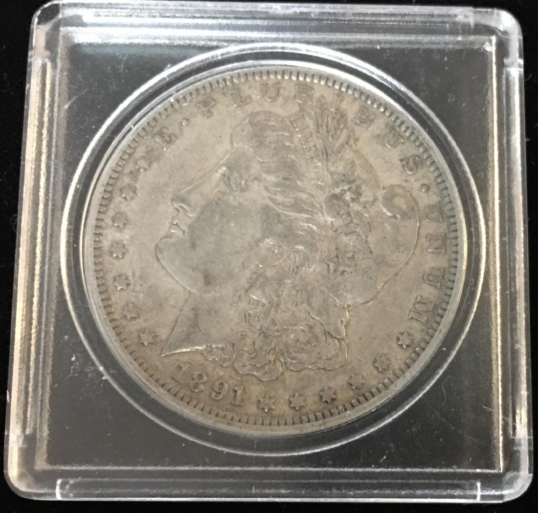 1891-O $1 Morgan Silver Dollar AU