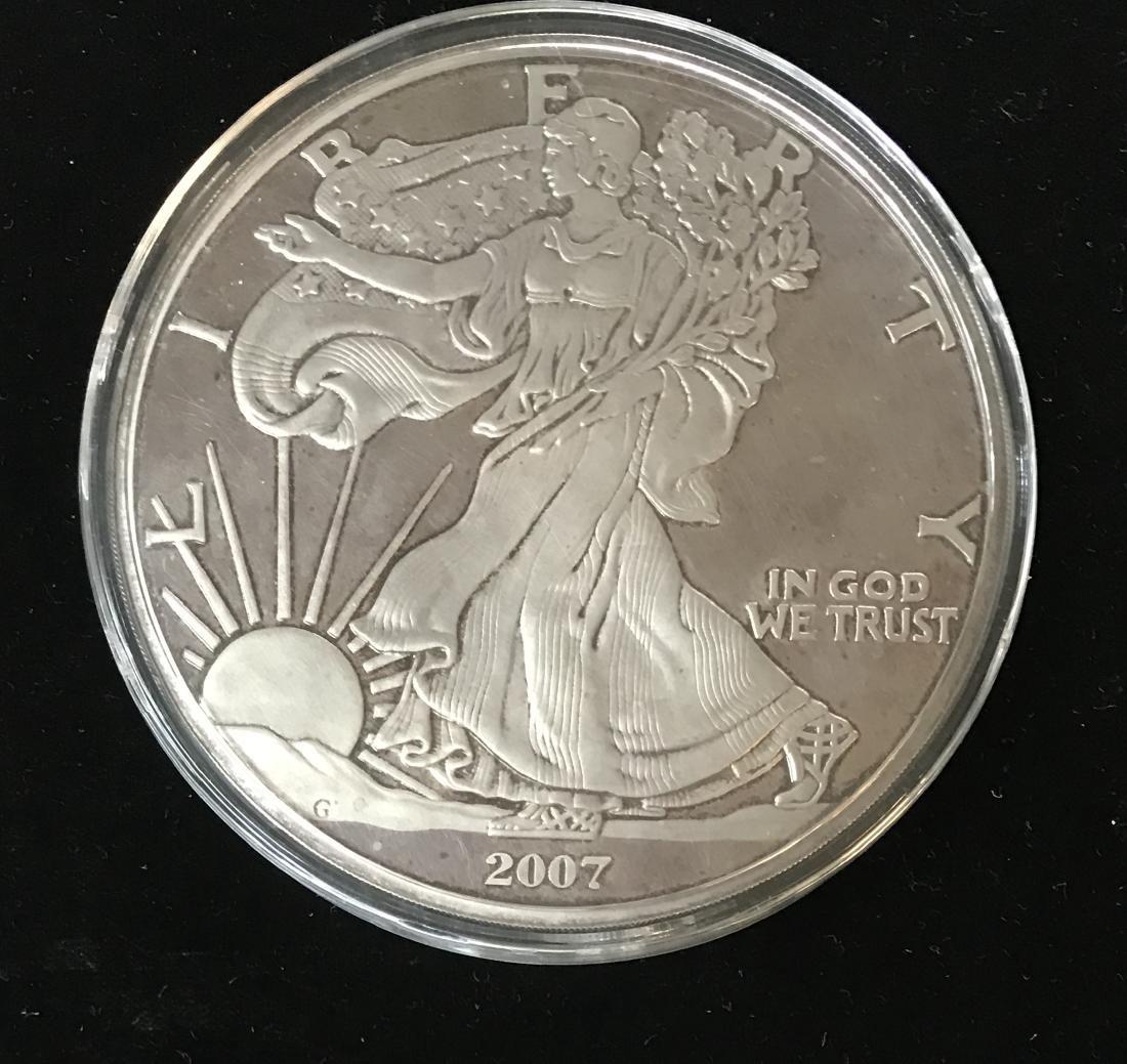 2007 Giant Walking Liberty 1 Lb .999 Fine Silver 12 tr