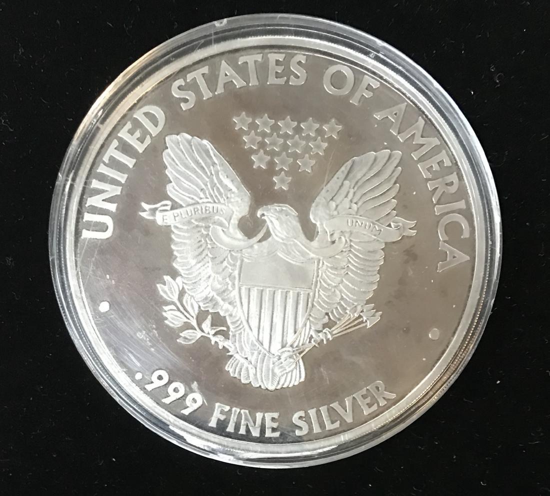 2007 Giant Walking Liberty 1 Lb .999 Fine Silver 12 tr - 2