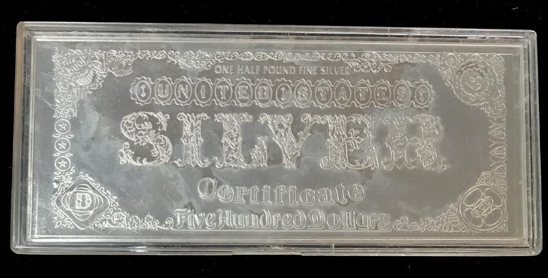 1996 U.S. 500 Silver Dollars Silver Certificate One