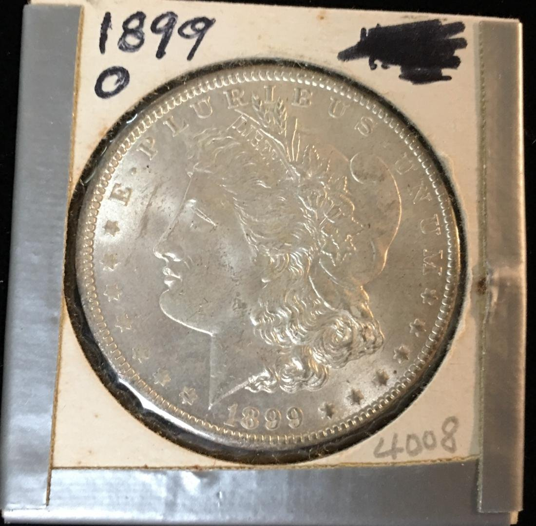 1898-P $1 Morgan Silver Dollar GEM BU