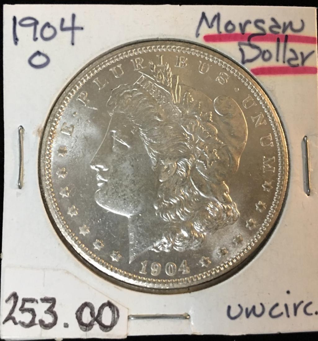 1904-O $1 Morgan Silver Dollar GEM BU
