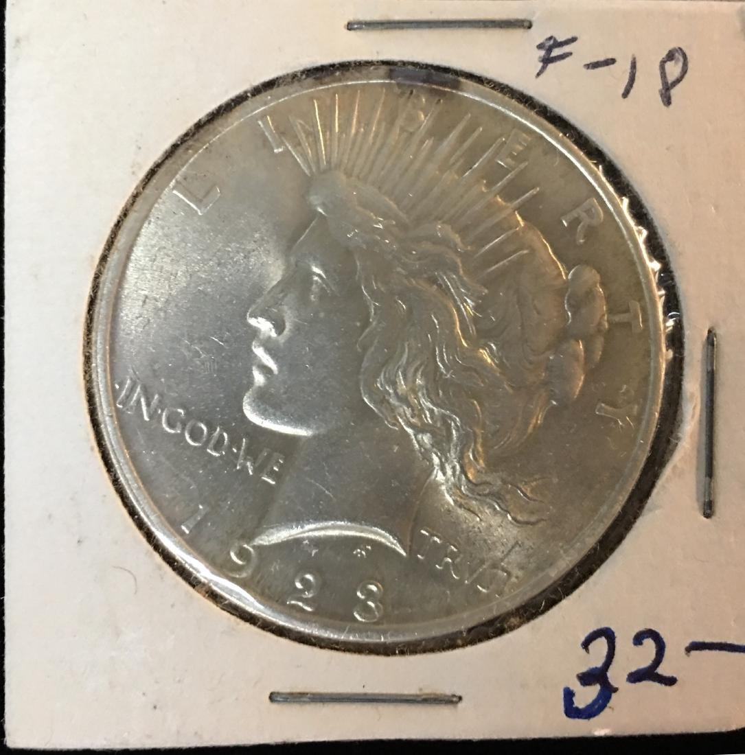 1923-P $1 Peace Silver Dollar BU