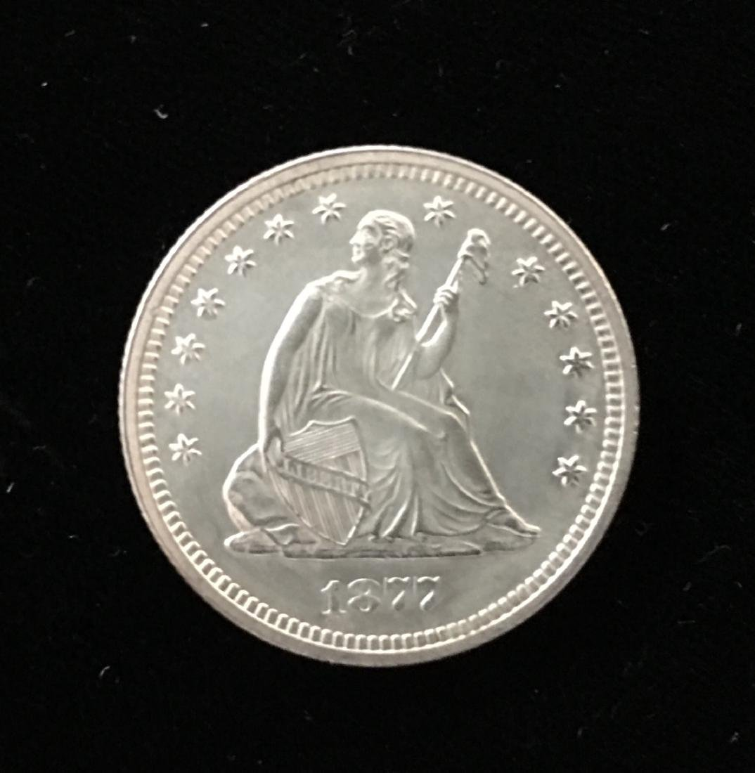 1877-P 25C Seated Liberty Silver Quarter Proof