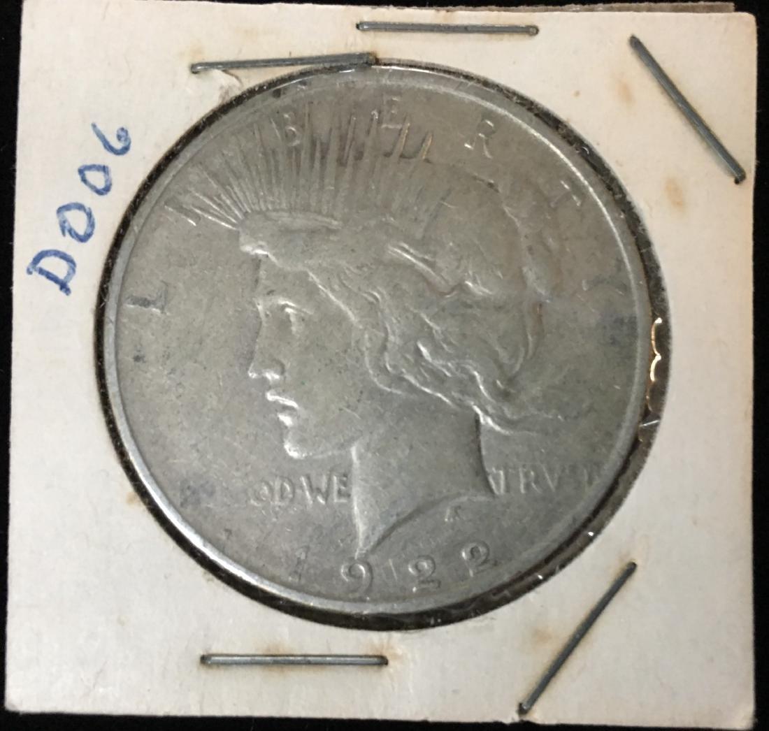 1922-D $1 Silver Peace Dollar