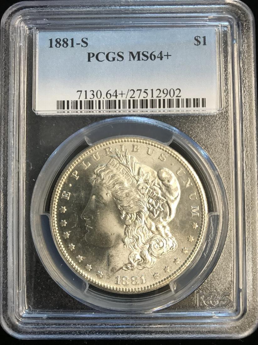 1881-S $1 Morgan Silver Dollar PCGS MS64+