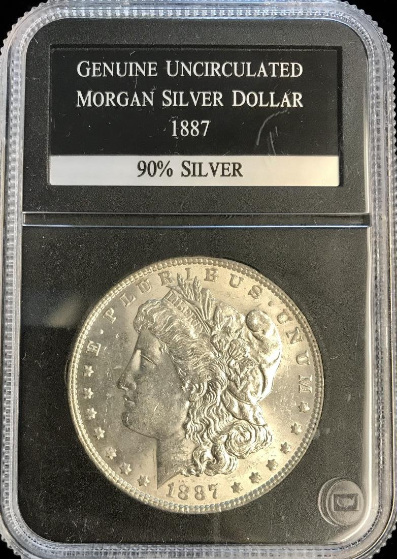 1887-P $1 Morgan Silver Dollar PCS Genuine Uncirculated