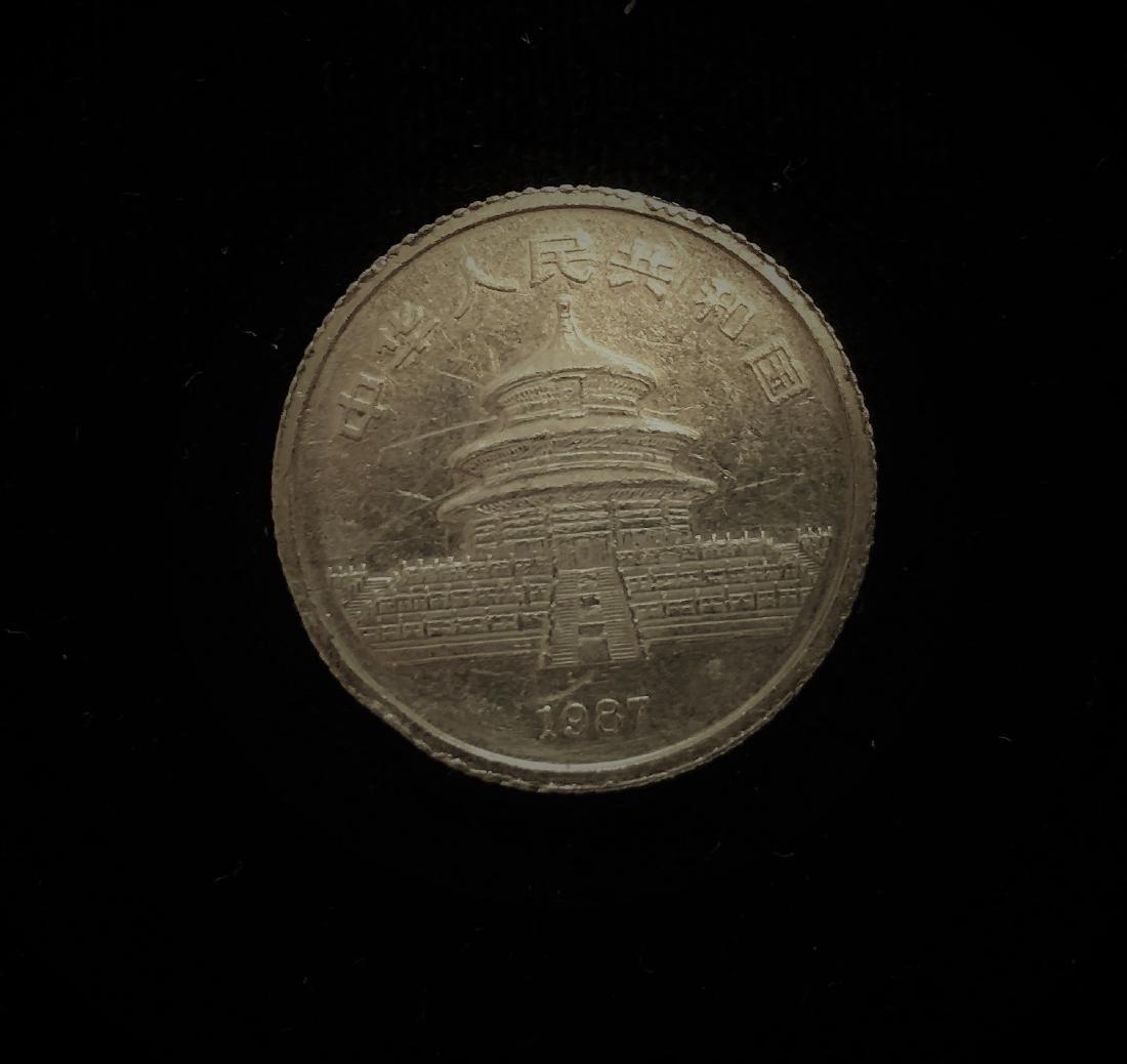 1987-S 10 Yn Gold Panda 1/10 oz .999 Gold - 2