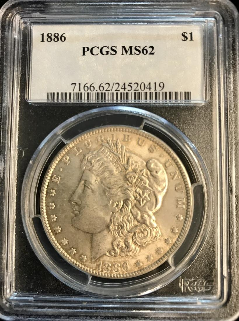 1886-P $1 Morgan Silver Dollar PCGS MS62