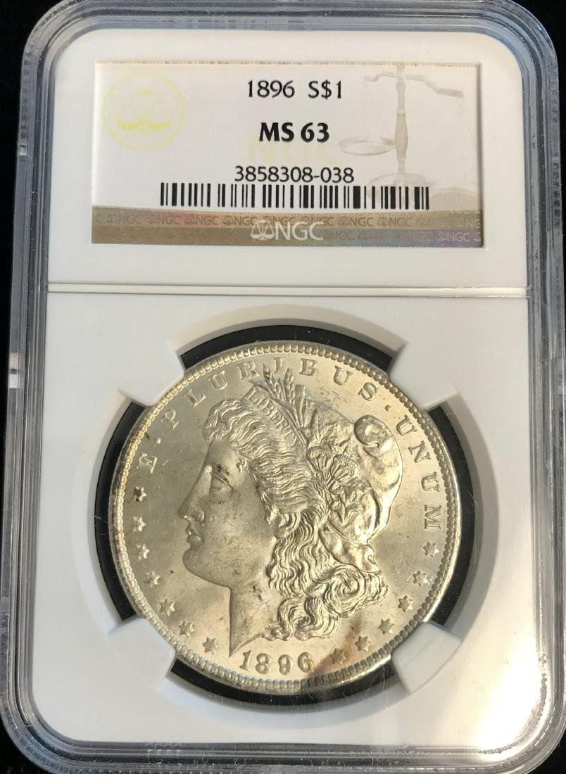 1896-P $1 Morgan Silver Dollar NGC MS63