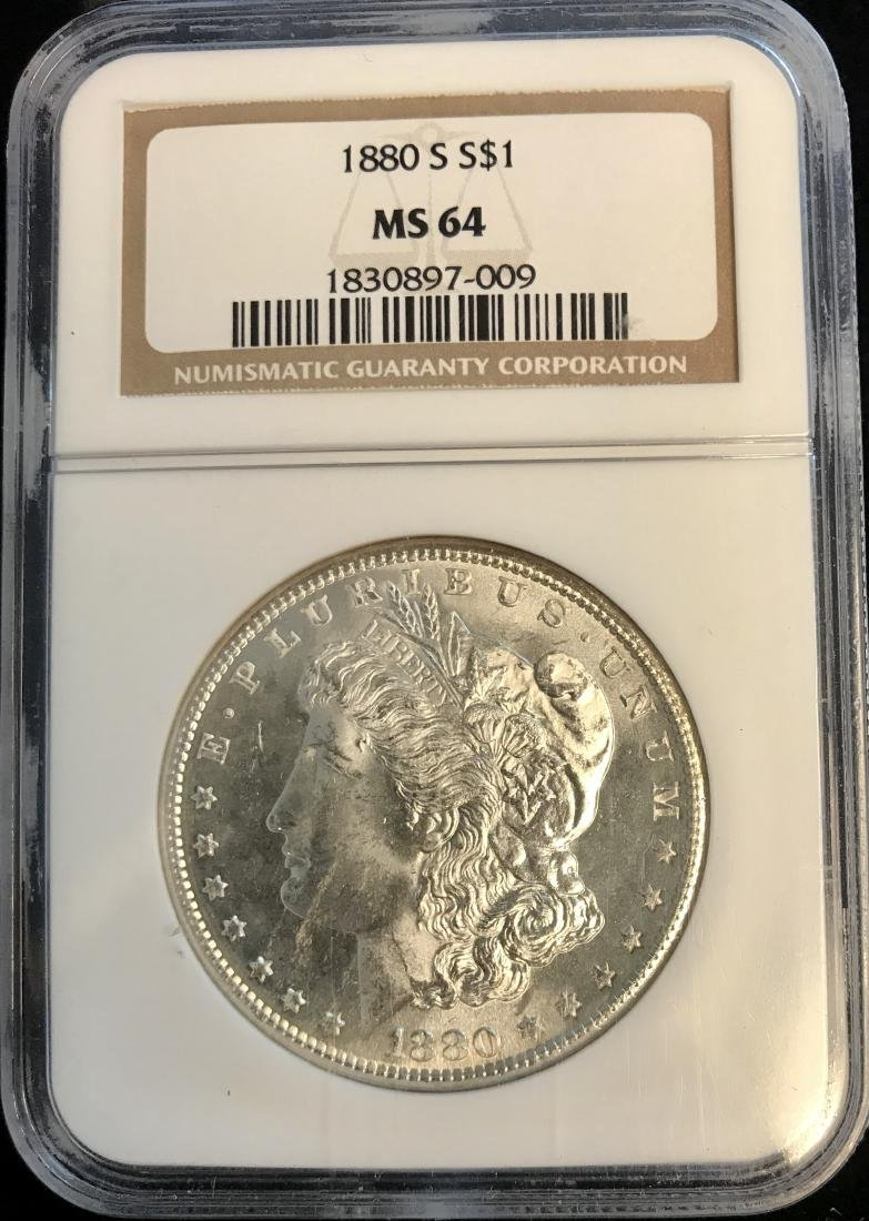 1880-S $1 Morgan Silver Dollar NGC MS64