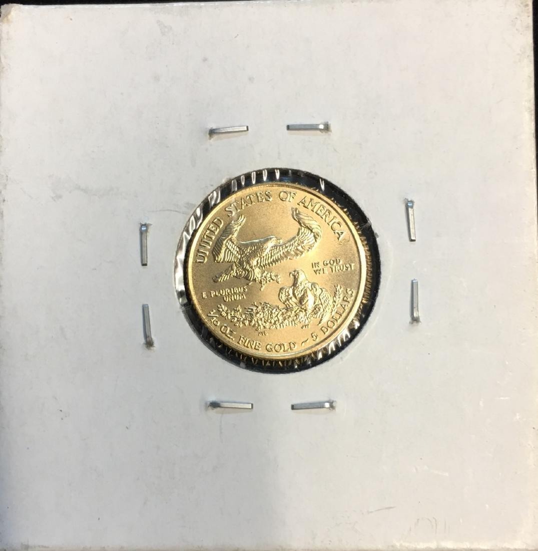 2017 $5 American Gold Eagle 1/10 oz Fine Gold GEM BU - 2