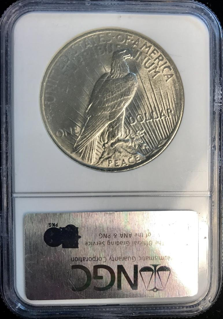 1924-P Peace Silver Dollar NGC Almost Uncirculated - 2