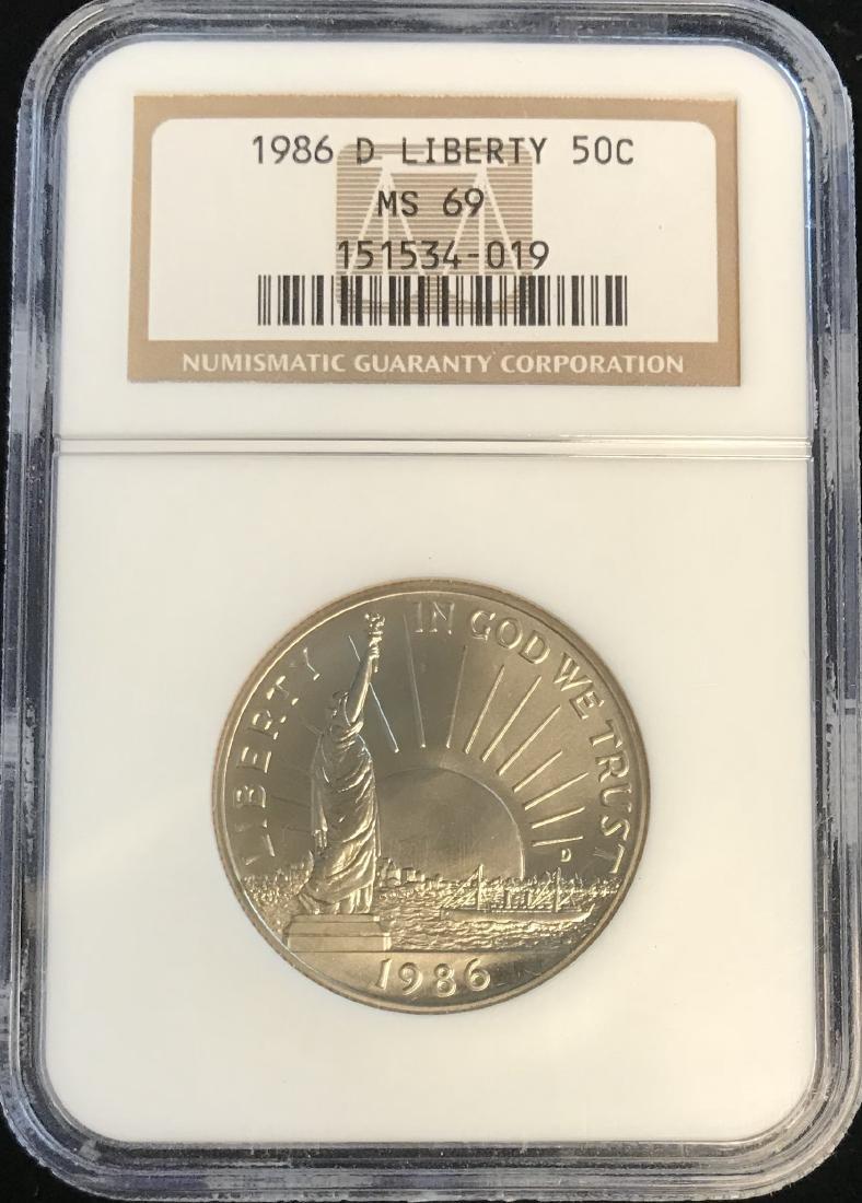 1986-D 50C Statue of Liberty Commemorative Half Dollar
