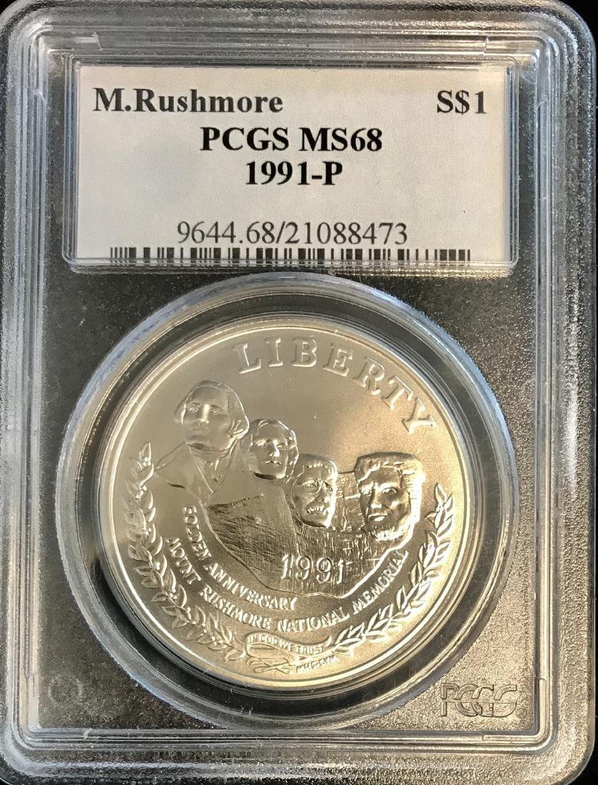 1991-P $1 Mount Rushmore Golden Anniversary Silver