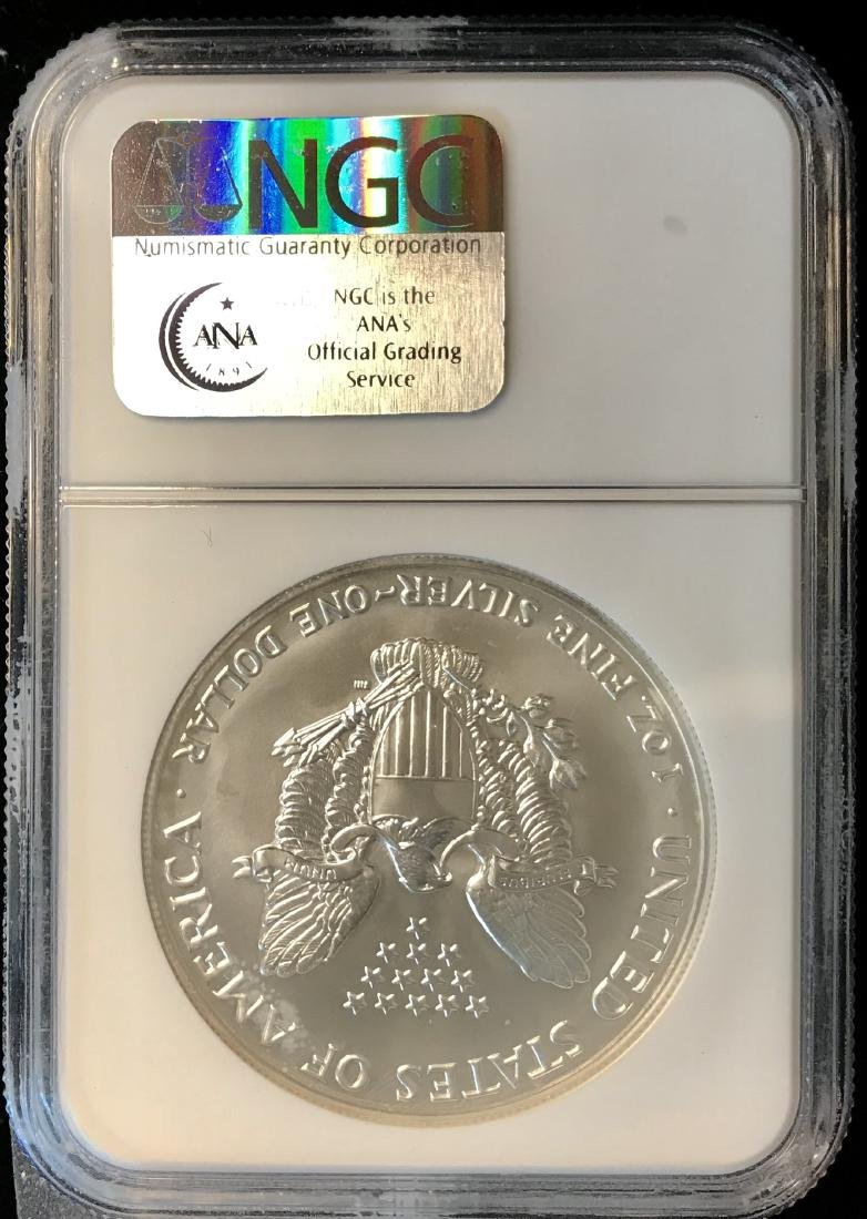 1991 $1 American Silver Eagle NGC MS69 - 2