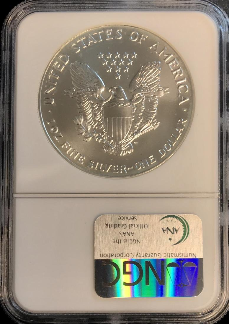 1993 $1 American Silver Eagle NGC MS69 - 2