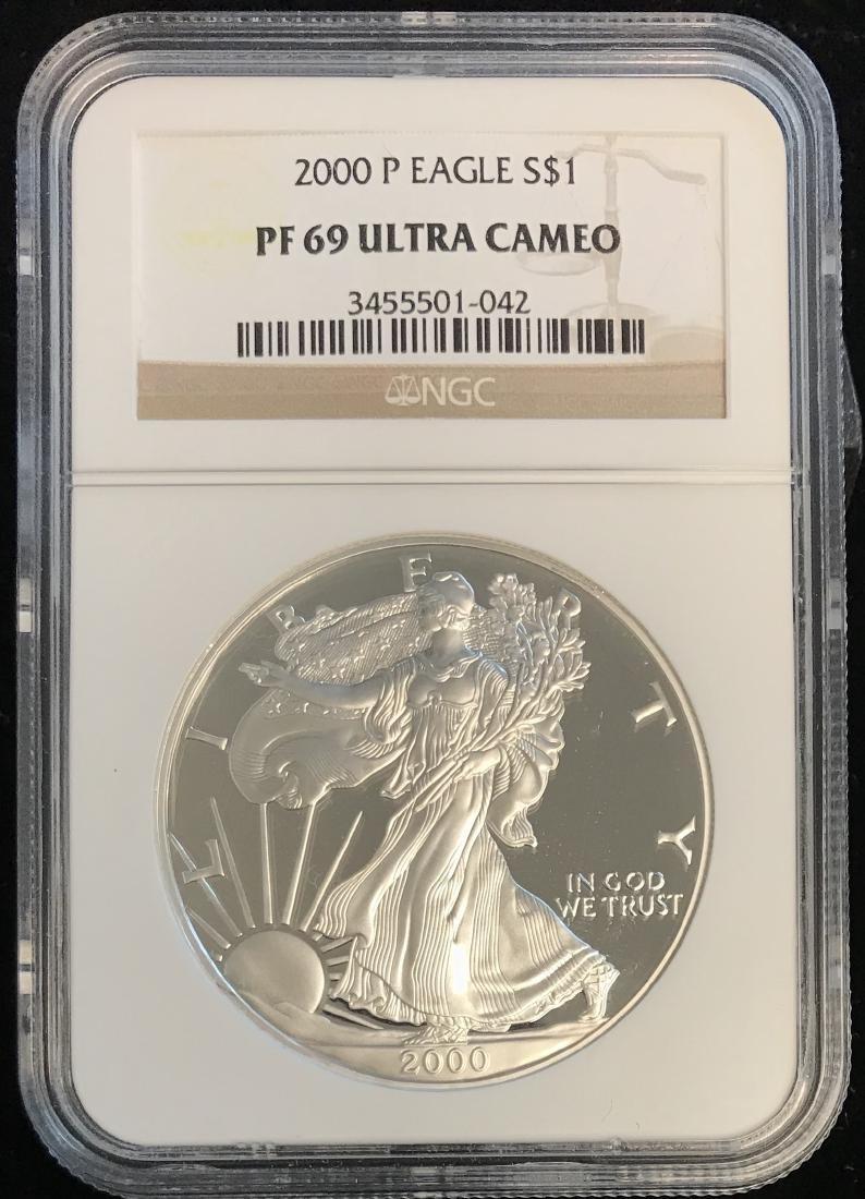 2000-P $1 American Silver Eagle NGC PF69 Ultra Cameo