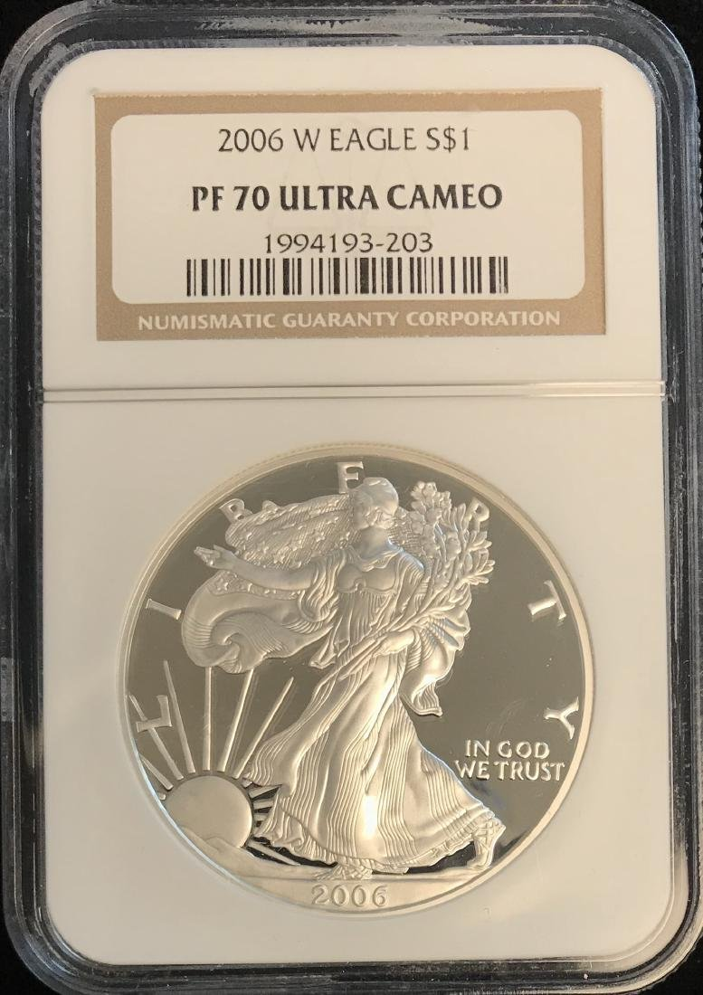 2006-W $1 American Silver Eagle NGC PF70 Ultra Cameo