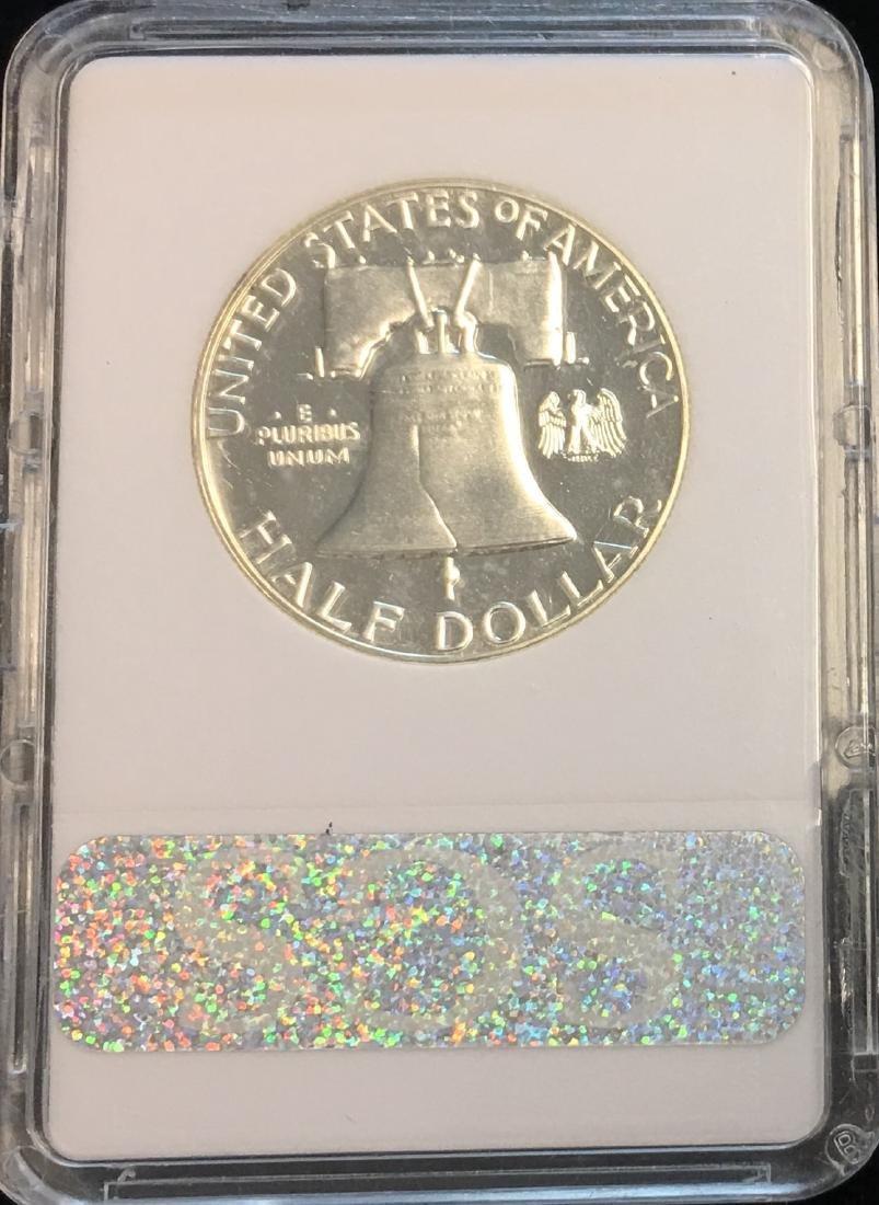 1963-P 50C Silver Franklin Half Dollar Proof SGS PR70 - 2