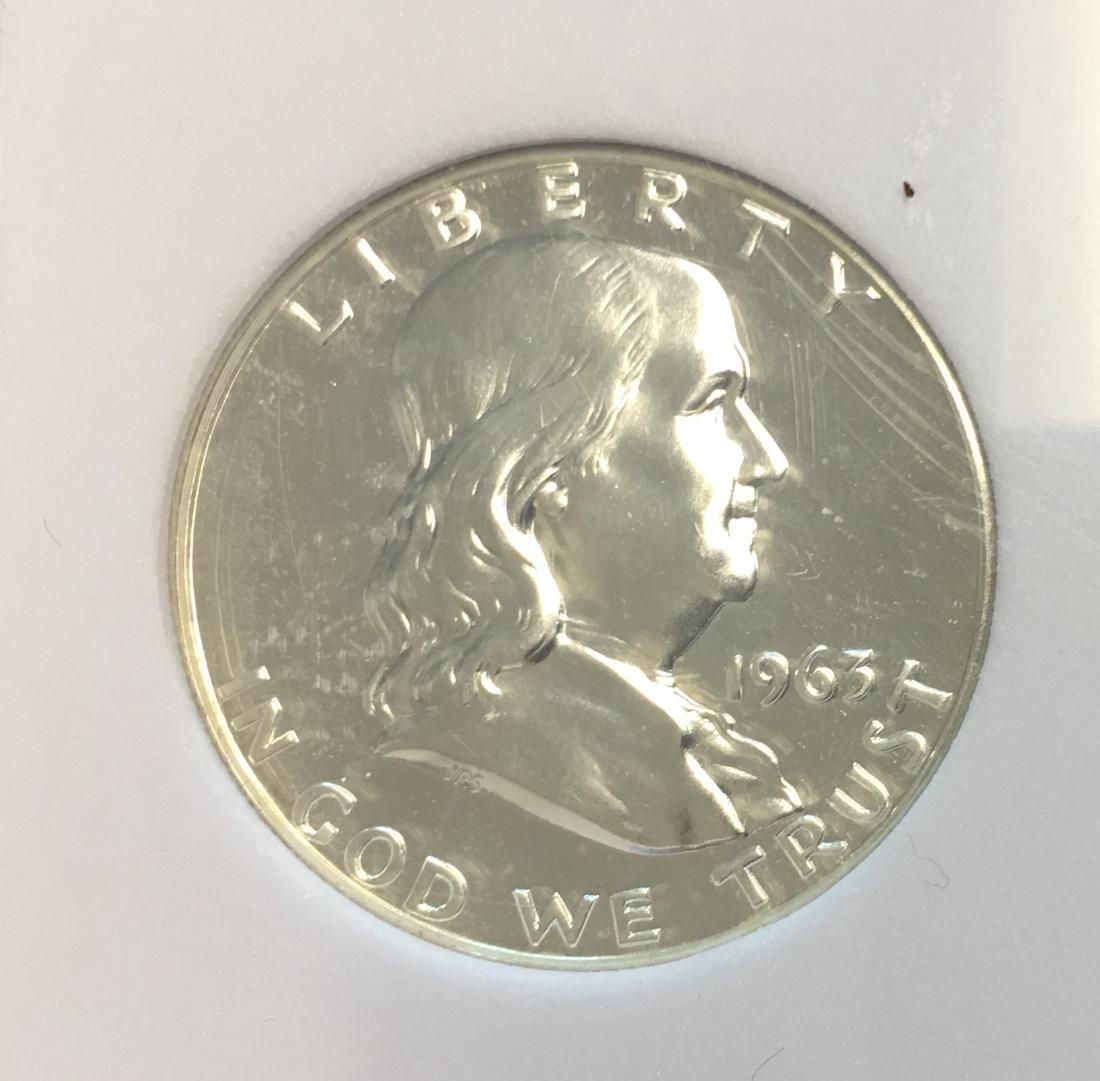 1963-P 50C Silver Franklin Half Dollar Proof SGS PR70 - 3
