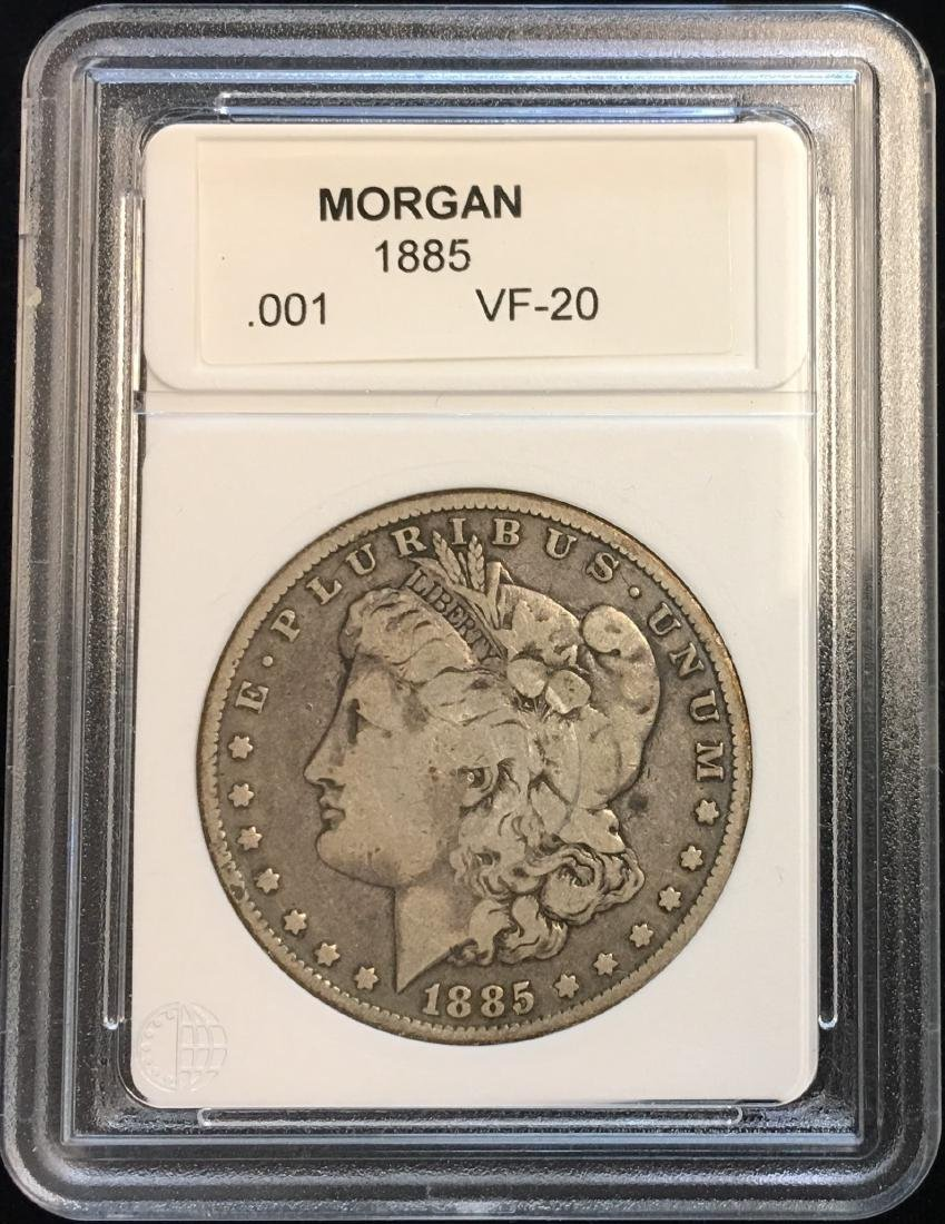 1885-P $1 Silver Morgan Dollar VF-20