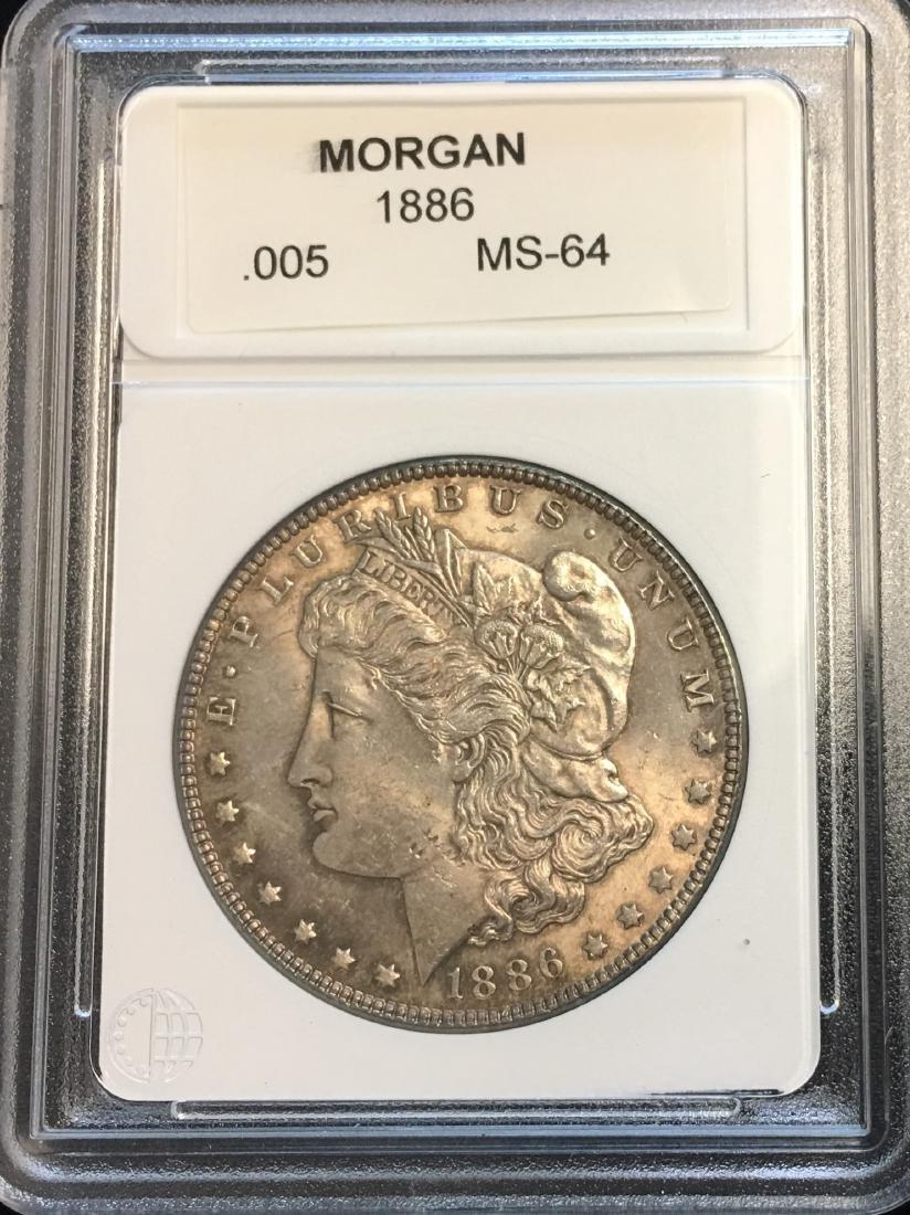 1886-P $1 Silver Morgan Dollar MS64