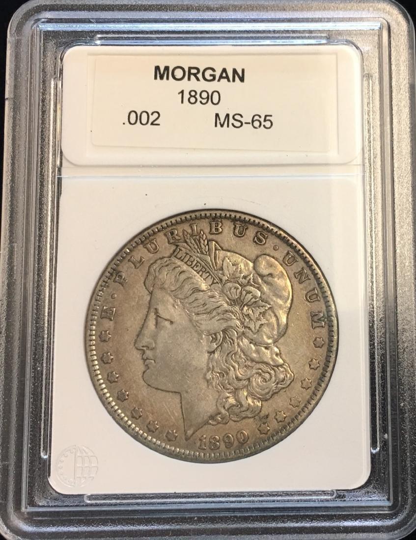 1890-P $1 Silver Morgan Dollar MS65