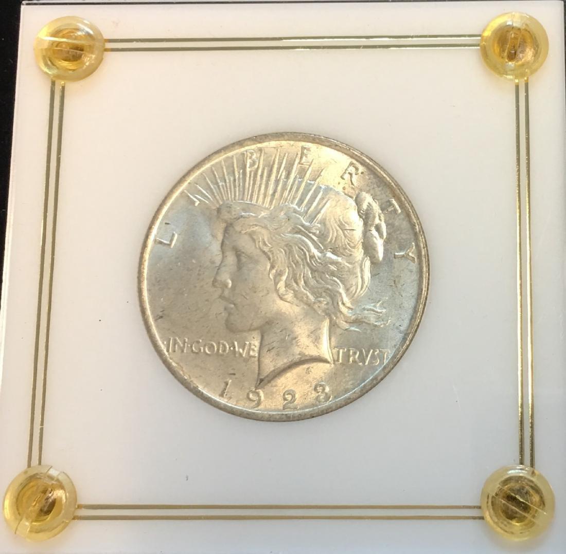 1923-P $1 Silver Peace Dollar GEM BU