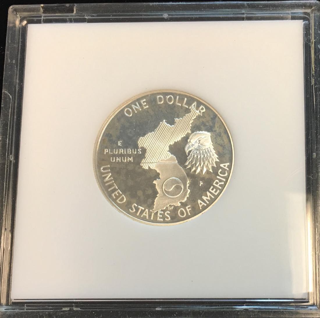 1991-P $1 Korean War Modern Commemorative Silver Dollar - 2
