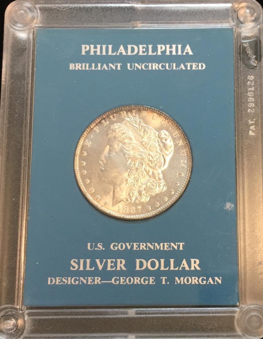 1887-P $1 Silver Morgan Dollar GEM BU