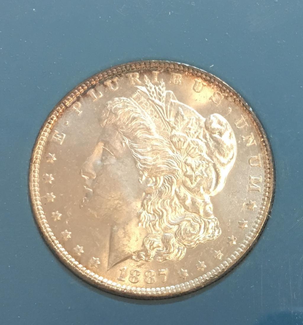 1887-P $1 Silver Morgan Dollar GEM BU - 3