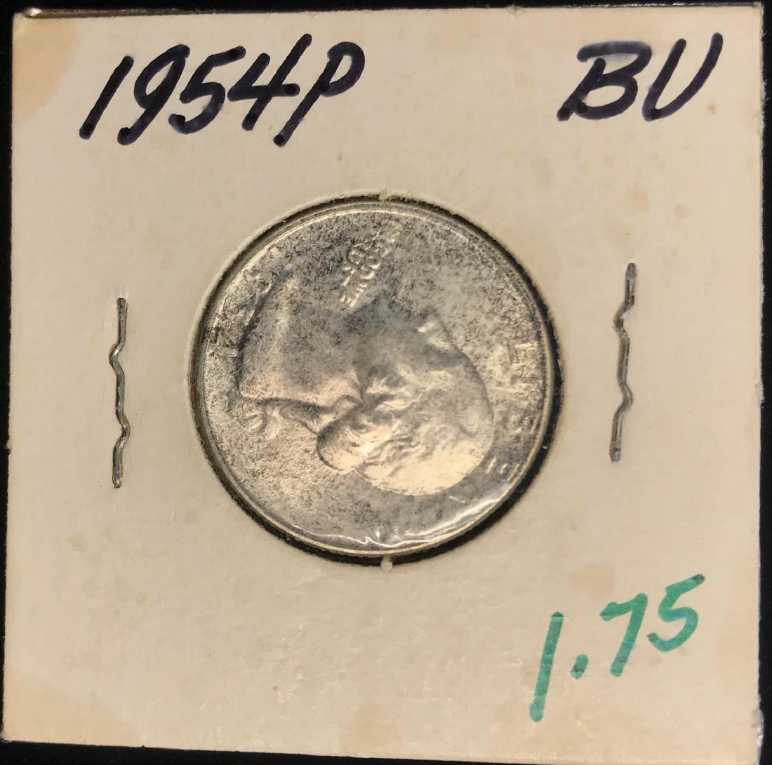 1954-P 25C Silver Washington Quarter BU