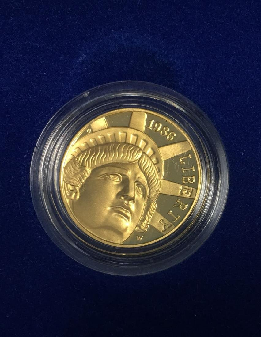 1986 U.S. Statue of Liberty 3 Coin Proof Set 1886-1986 - 5