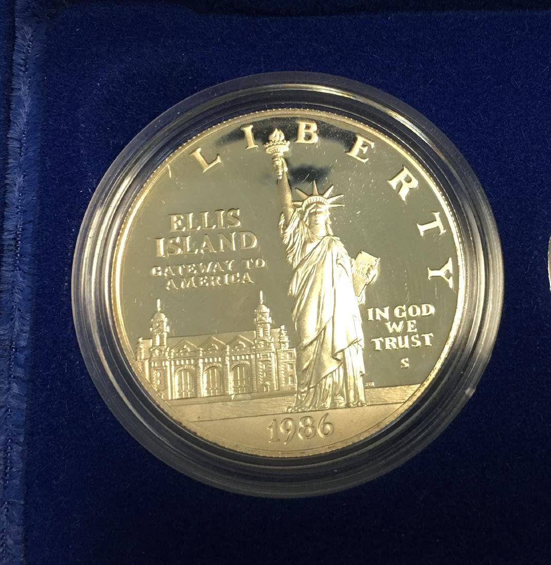 1986 U.S. Statue of Liberty 3 Coin Proof Set 1886-1986 - 6