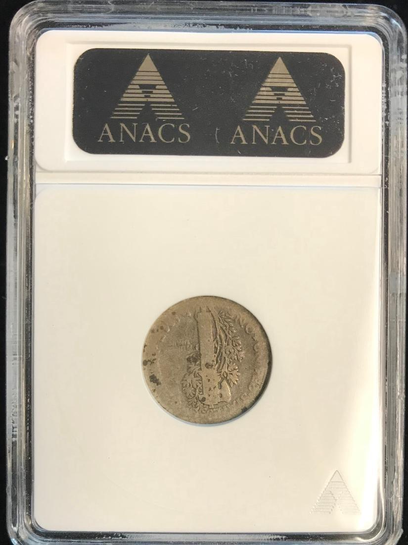 1916-D 10C Mercury Dime ANACS AG Details - 2