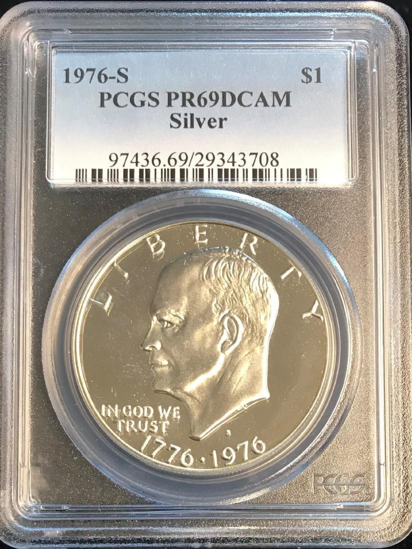 1976-S $1 Silver Eisenhower Dollars PCGS PR69 DCAM