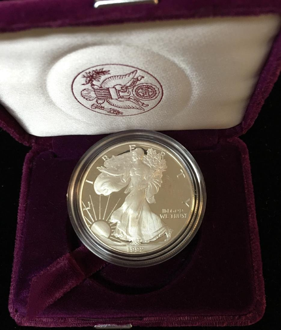1992-S $1 American Silver Eagle Proof As Is