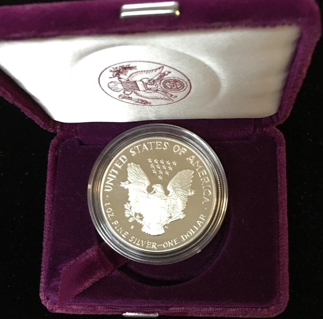 1992-S $1 American Silver Eagle Proof As Is - 2