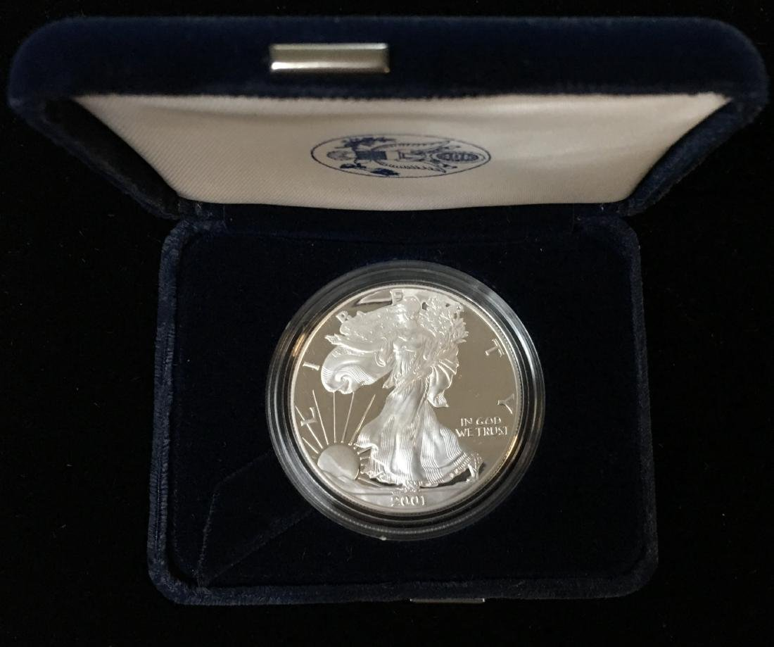 2001-W $1 American Silver Eagle Proof As Is