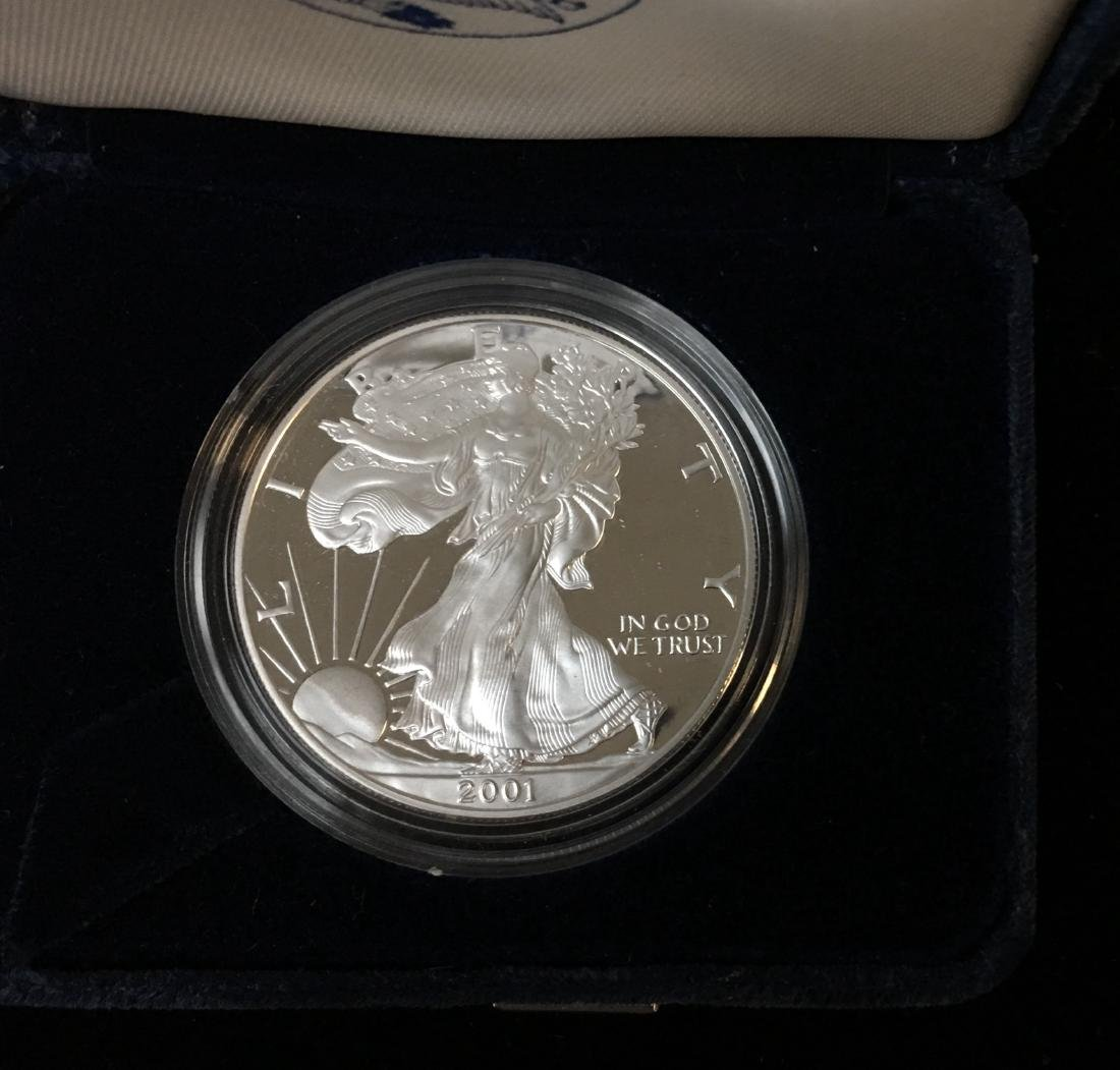 2001-W $1 American Silver Eagle Proof As Is - 2