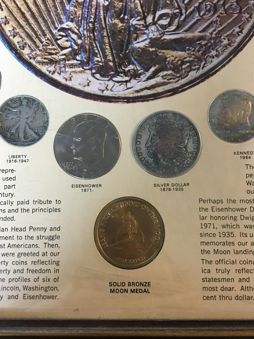 UNITED STATES 20TH CENTURY COINS IN PICTURE FRAME - 5