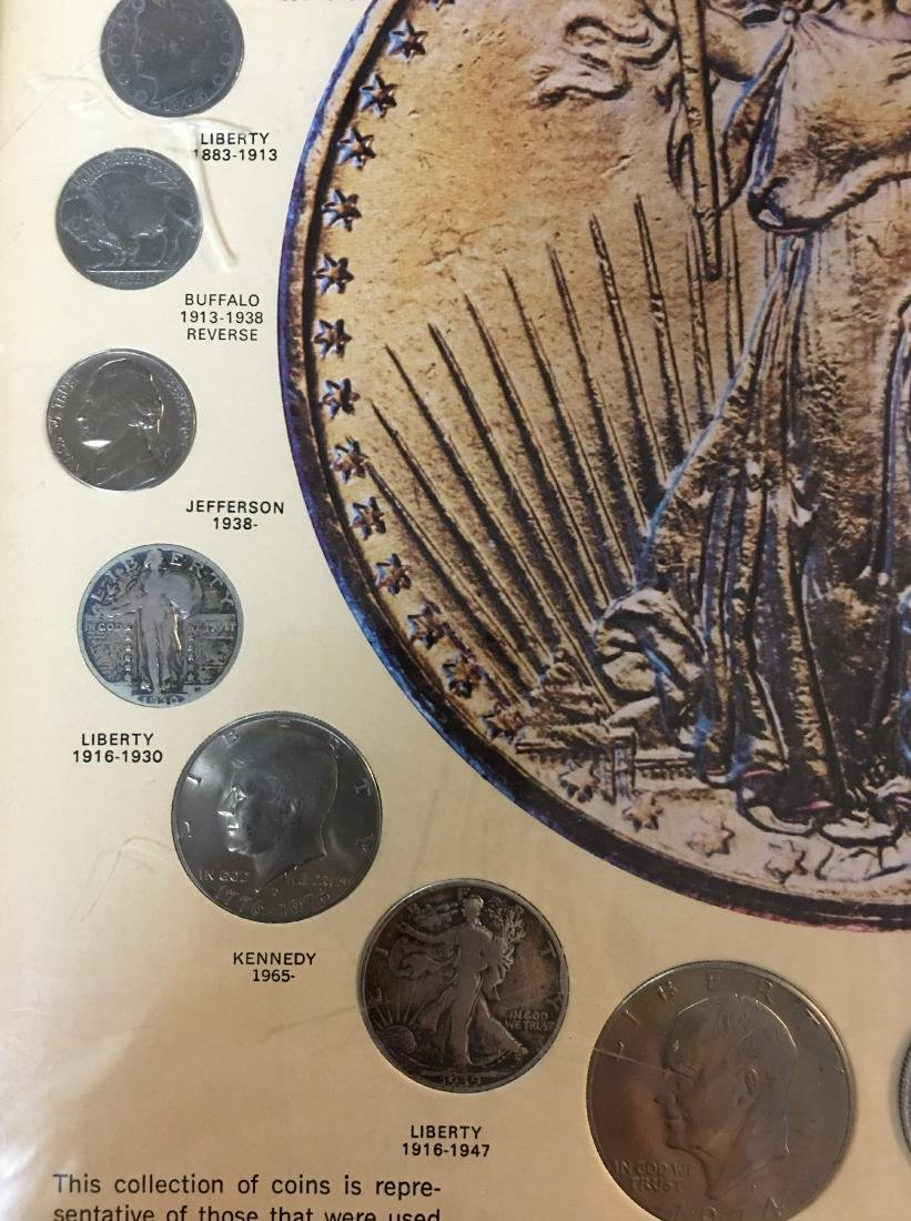 UNITED STATES 20TH CENTURY COINS IN PICTURE FRAME - 6